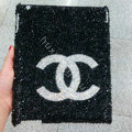Luxry Bling covers Chanel crystal diamond hard cases for iPad 2 / The New iPad - Black