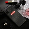 Classic LV Flower Shell Matte Covers Protective Back Cases For iPhone XS Max - Black