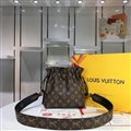 Classic Fashion LV Crossbody Genuine Leather Bags Womens Shoulder Ladies Black String Bag- Brown
