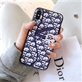 Classic Dior Leather Pattern Cases Hard Back Covers for iPhone XS Max - Blue