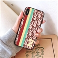 Fashion Dior Leather Pattern Cases Hard Back Covers for iPhone XS Max - Coffee