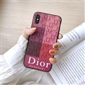 Retro Skin Casing Dior Leather Back Covers Holster Cases For iPhone XS Max - Rose White