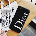 Round Dior Marble Aurora Laser Skin Glass Covers Protective Back Cases For iPhone XS Max - Black