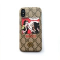 Snow White and the Seven Dwarfs Casing Gucci Leather Back Covers Holster Cases For iPhone XS Max - Gray