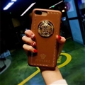 Classic Versace Leather Pattern Shell Hard Back Covers for iPhone XS - Brown
