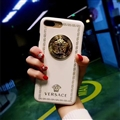 Classic Versace Leather Pattern Shell Hard Back Covers for iPhone XS - White