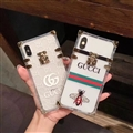 New Gucci Women Back Cases Shell For iPhone XS Silicone Soft Covers - Honeybee