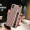 Wristband Christian Burberry Matte Hard Back Cases For iPhone XS - Black