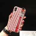 Wristband Christian Burberry Matte Hard Back Cases For iPhone XS - Red