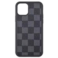 Classic Lattice Casing LV Leather Back Covers Holster Cases For iPhone 11 Pro - Blue