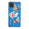 Cute Doraemon Shell Matte Covers Protective Back Cases For iPhone 11 Pro - Blue