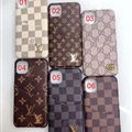 Metal Monogram Skin LV Leather Back Covers Holster Cases For iPhone 11 Pro - Brown 02