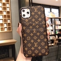 Unique Monogram Skin LV Leather Back Covers Holster Cases For iPhone 11 Pro - Small Brown