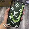 Chain Monogram LV Protective Leather Back Covers Holster Cases For iPhone 11 Pro Max - Green