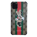 Classic Disney Casing Gucci Leather Back Covers Holster Cases For iPhone 11 Pro Max- Minnie