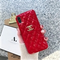 Classic Lattices Chanel Leather Hanging Rope Covers Soft Cases For iPhone 11 Pro Max - Red