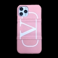 Classic Shell LV Protective Leather Back Covers Holster Cases For iPhone 11 Pro Max - Pink