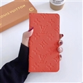 LV Monogram Housing Flip Leather Cases Cover Book Genuine Holster Shell For iPhone 11 Pro Max - Orange