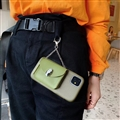 Chain Female Bvlgari Fashion Leather Back Covers Holster Cases For iPhone 11 - Green