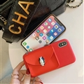Chain Female Bvlgari Fashion Leather Back Covers Holster Cases For iPhone 11 - Red