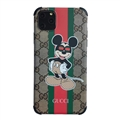 Classic Disney Casing Gucci Leather Back Covers Holster Cases For iPhone 11- Mickey