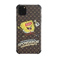 Classic LV Housing Matte Covers SpongeBob Back Cases For iPhone 11 - Brown