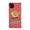 Classic LV Housing Matte Covers SpongeBob Back Cases For iPhone 11 - Red