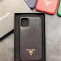 Classic Shell Prada Protective Leather Back Covers Holster Cases For iPhone 11 - Black