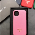 Classic Shell Prada Protective Leather Back Covers Holster Cases For iPhone 11 - Pink