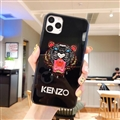 Kenzo Mirror Surface Glass Cases Shell For iPhone 11 Silicone Soft Covers - Black
