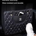 Chanel Leather Multi-function Car Seat Back Hanging Pocket Phone Thermal Insulation Storage Bag - Black